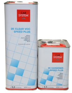 carsystem 2K Clear VOC Speed Plus sada 7500 ml